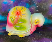 Load image into Gallery viewer, Flower Turtle (Ceramic, Chalkware Style)