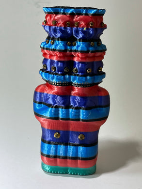 Double Pig Stack Ape: Blue/Red/Purple