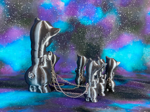 Silver Twisty Pig Family