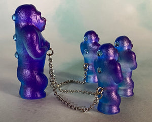 Tiny ape set: Blue/Purple/Silver/Pink