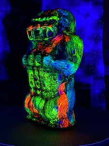 Freak of Nature 3 Headed Ape: Day and Night Glow