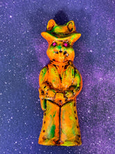 Load image into Gallery viewer, Cowboy Rabbit Wall Plaque: Orange/Green/Yellow