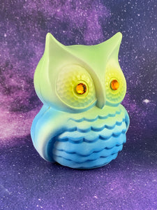 Mysterious Owl: Blue, Green and Yellow