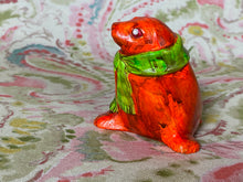 Load image into Gallery viewer, Orange Seal with Green Scarf
