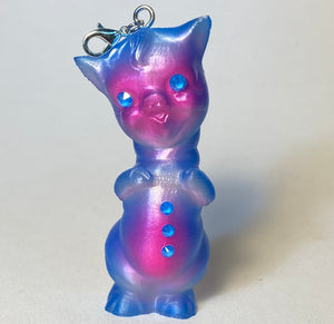 Twisty Pig Necklace Charm: Pink and Blue