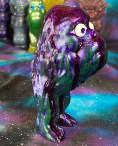 Ape Hopper: Resin Cast with Runny Purple Glitter