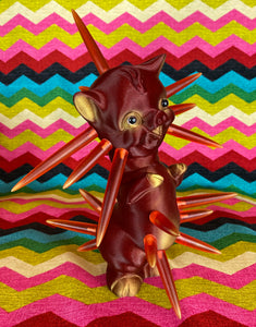 Red and Gold Twisty Pig