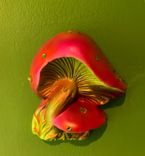 Load image into Gallery viewer, Triple Mushrooms Wall Plaques
