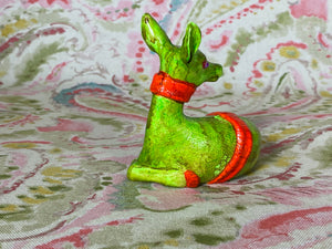 Green Deer with Orange Scarf