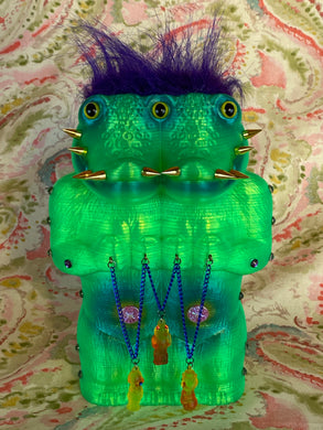 Crocodile Ape Cult: Green Double Headed Charmer