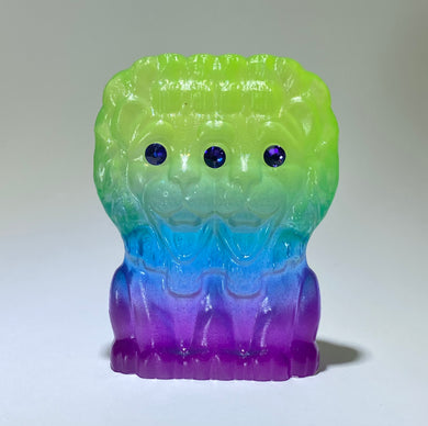 Three Eye Lion: Green/Blue/Purple Transparent