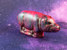 Load image into Gallery viewer, Chalkware Pig: Neon Pink and Metallic Blue