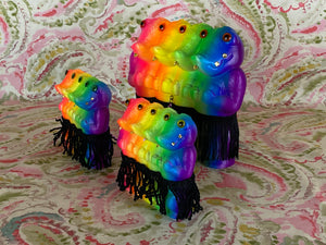 Crocodile Ape Cult: Triple Chained 4 Headed Neon Rainbow Coalition
