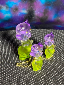 Aton Pig Set: Purple/Clear/Green