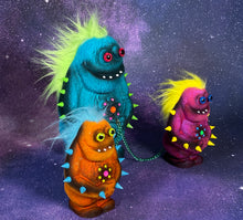 Load image into Gallery viewer, Flocked Monsters: Blue/Orange/Pink