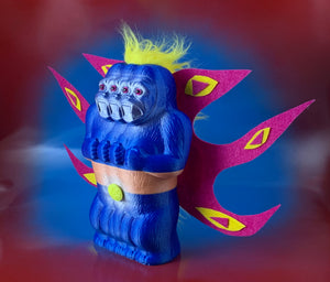Flying Freak of Nature Ape: Blue/Pink/Yellow