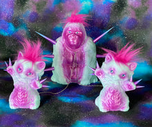 Load image into Gallery viewer, Gorilla with Cats: Pink and Blue
