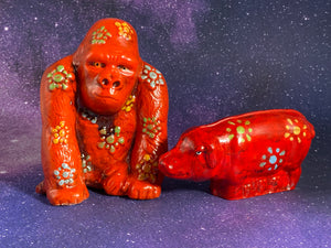 Chalkware Pig Who Looks Like This Ape From The 60s