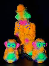 Load image into Gallery viewer, Clown with Monkeys: The Neon Whisper
