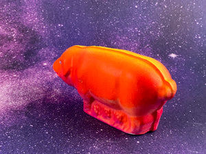 Serious Pig: Yellow, Purple and Orange fluorescent