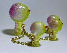 Load image into Gallery viewer, Moon Head Giant Head Freak: Tiny Chained Set, Green/Purple