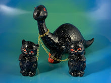 Load image into Gallery viewer, Black Dino Chained to Black Cats