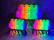 Load image into Gallery viewer, Crocodile Ape Cult: Triple Chained 4 Headed Neon Rainbow Coalition