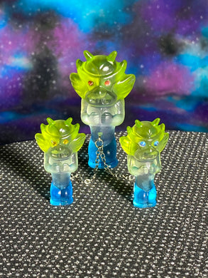 Aton Ape Set: Big Head Apes Blue/Clear/Green