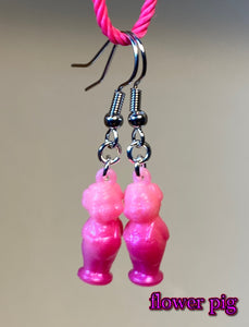 Pastel and Iridescent Pink Earrings