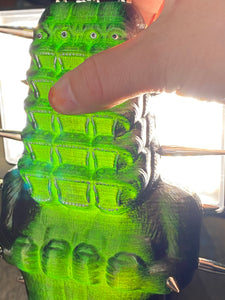 Tall Stack Ape: Translucent Green and Black