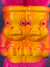 Load image into Gallery viewer, Amazing Double Headed Pig Ape Freak: Pink and Orange