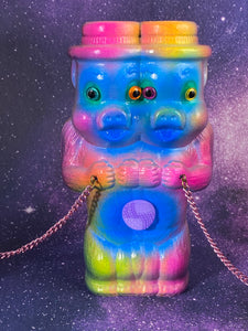 Neon Two Headed Pig Ape Freaks