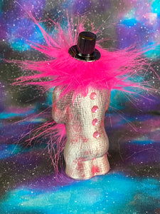 Pink and Silver Top Hat Ape