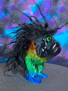 Ape Hopper: Rainbow with Black Hair