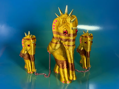 Gold and Copper Elephants