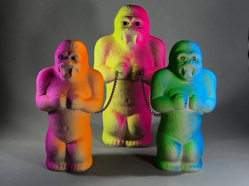 Day glow fuzzy ape gang, large.