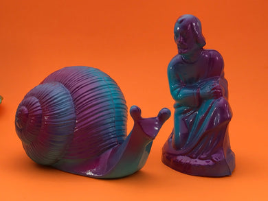Joseph and his Snail (purple and blue)