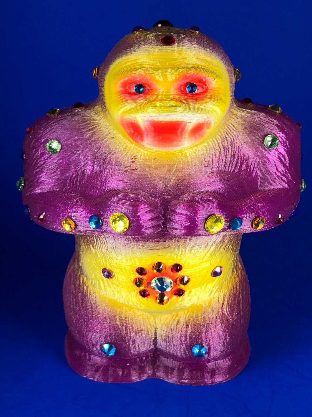 Super squat Ape with 44 rhinestones and a giant eyeball on his back