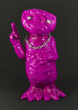 Load image into Gallery viewer, Fluorescent purple ET with rhinestone eyes, silver chain and metal flake