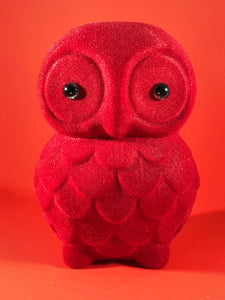 Flocked Owl - Red