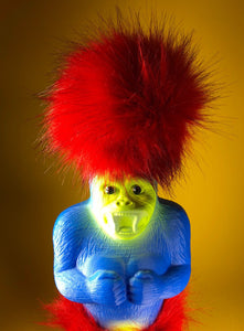 Super Fluff Ape: Blue Red Yellow
