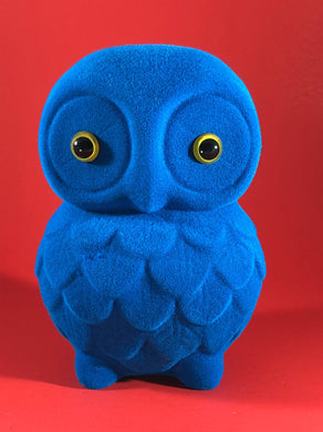 Flocked Owl - Blue
