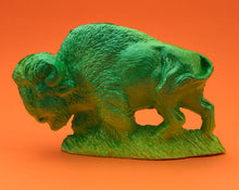 Load image into Gallery viewer, Seriously reflective bison, green and yellow