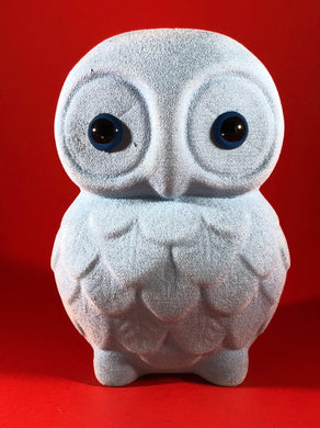 Flocked Owl - Powder Blue