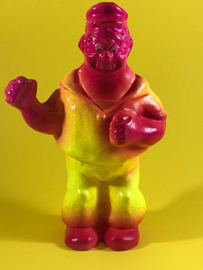 Florescent Bluto, yellow and pink with glow in the dark eyes