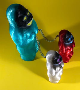 Blue, Red and White Translucent Chained Danger Apes