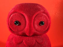 Load image into Gallery viewer, Flocked Owl - Red
