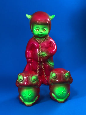Satan Worshipper Chained to Frogs