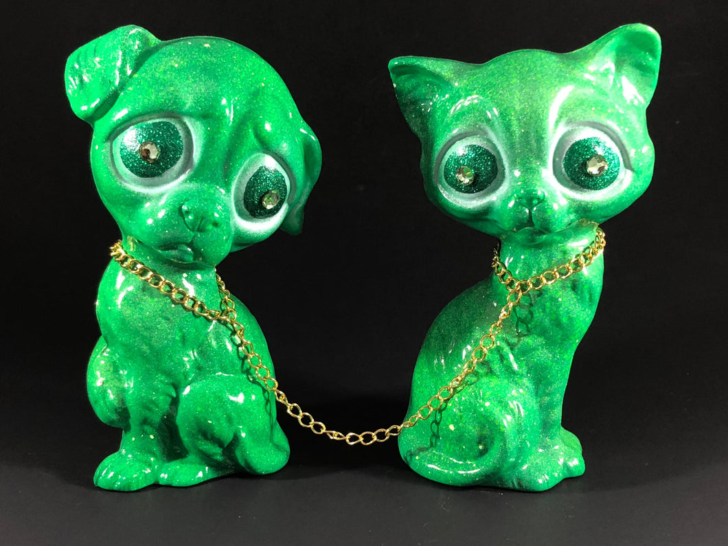 RGB Sad Dog and Sad Cat (Green)