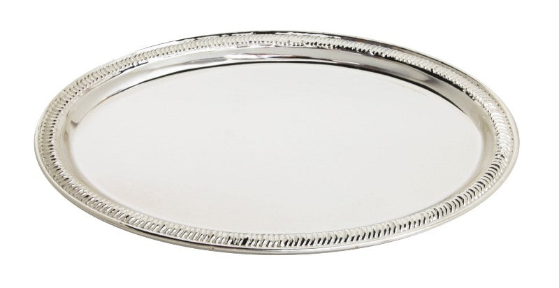 Tray: Silver Plated: Oval Shaped